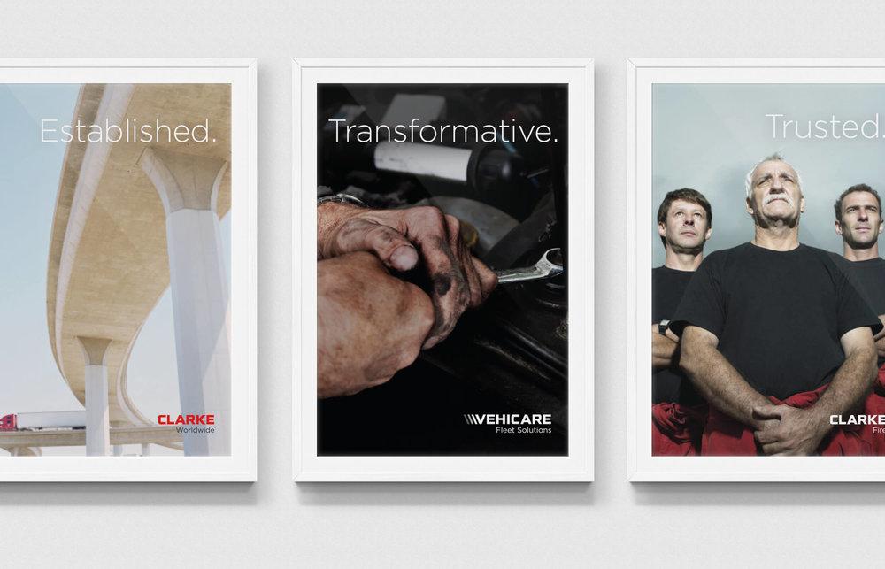 Clarke Worldwide poster design