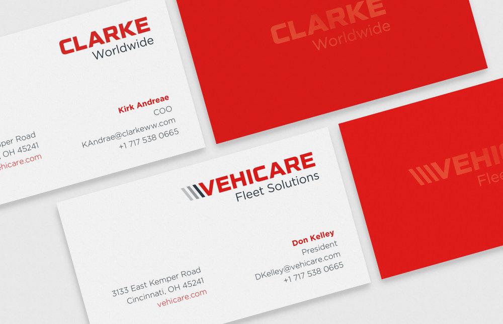 Clarke Worldwide bsuiness card details