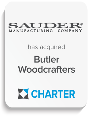 Butler Woodcrafters, Inc. of Richmond, Virginia, was acquired by Sauder Manufacturing Co. of Archbold, Ohio. Butler's regional sales force and the organization in Richmond and Chase City, Virginia remain intact, operating as a wholly-owned subsidiary of Sauder Manufacturing Co. Charter served as exclusive investment banking advisor to Sauder Manufacturing Co.