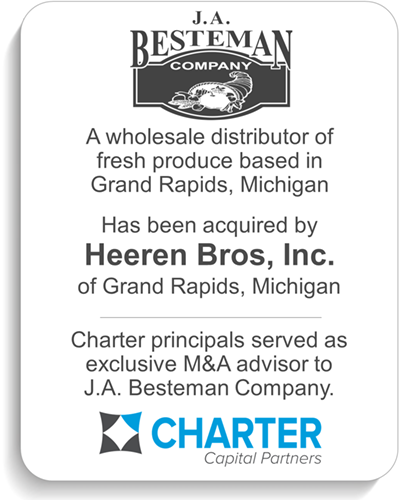 An established fuel and oil heating distributing company in Ionia, Michigan, was acquired by Peterson Oil Company, Inc. in Greenville, Michigan. Charter served as exclusive investment banking advisor to the shareholders of Kilduff Oil, Inc.