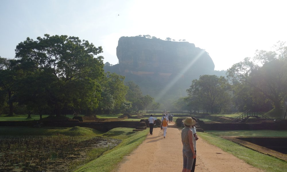 SIGIRIYA ROCK TEMPLE - A UNESCO HERITAGE SITE! Referred by locals as the Eighth Wonder of the World this ancient palace and fortress complex has significant archaeological importance and rivals Israel's Masada or Peru's Machu Picchu in it's impressiveness. It is probably the most visited tourist destination of Sri Lanka.