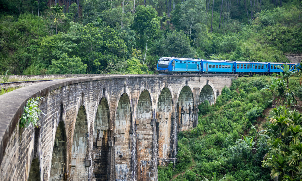 SCENIC TRAIN RIDE THROUGH TEA PLANTATIONS TO NATURIFIC ELLA This stretch of train ride is ranked as one of the most beautiful in the world, and takes you through the scenic tea plantations up in the mountains of Sri Lanka - also known as Ceylon - one of the world's historic tea capitals.