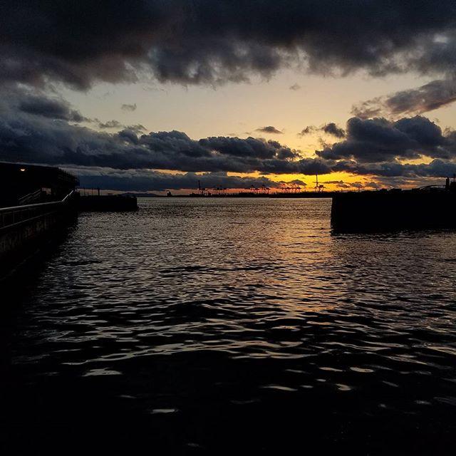 Sunset at the Port of Osaka. #nofilter #osaka