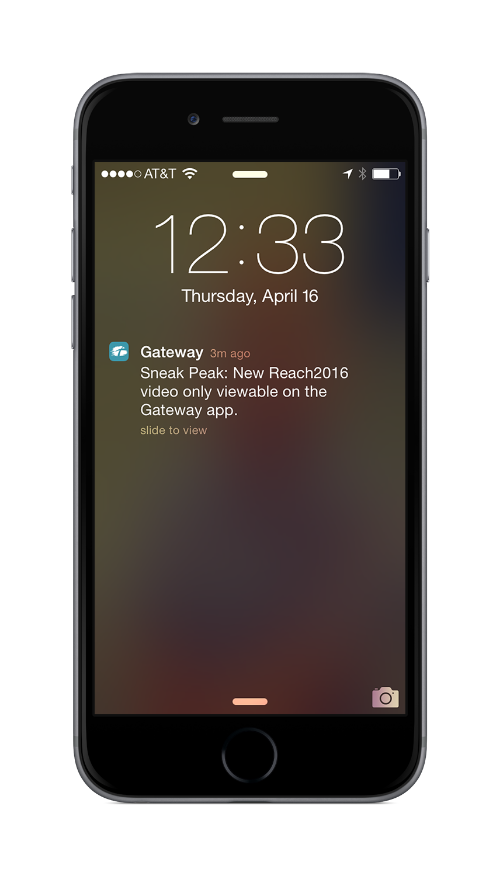 Use push notifications to spread the word about exclusive content.