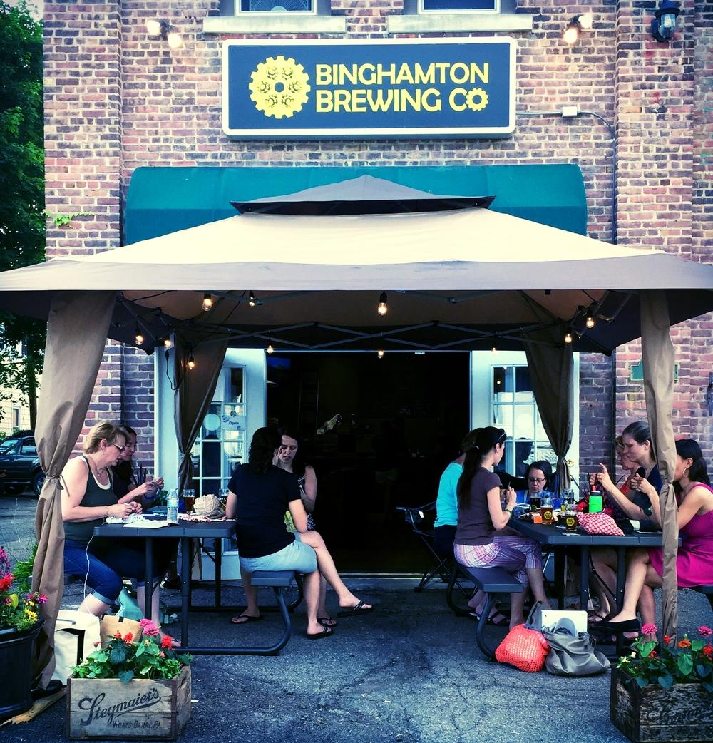 Pints & Purls at binghamton brewing company
