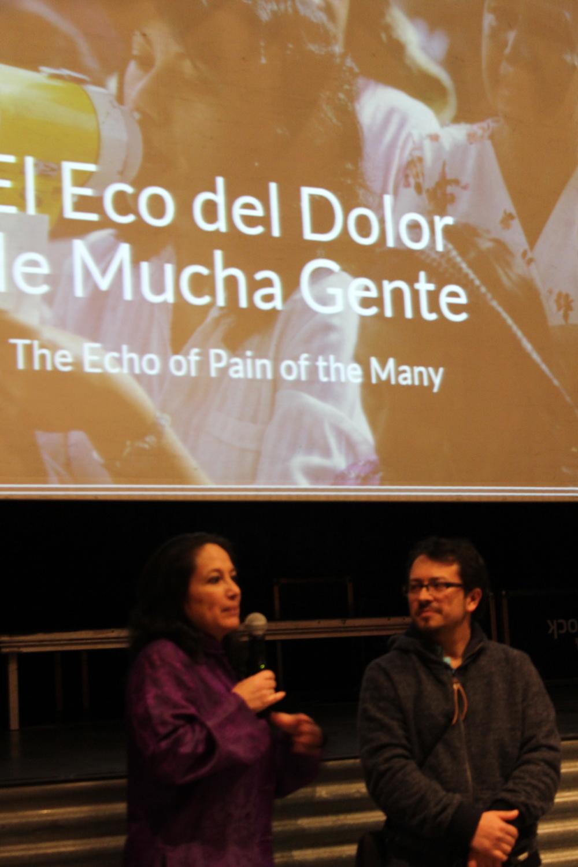 Ana Lucía Cuevas y/and Christian Rodríguez.