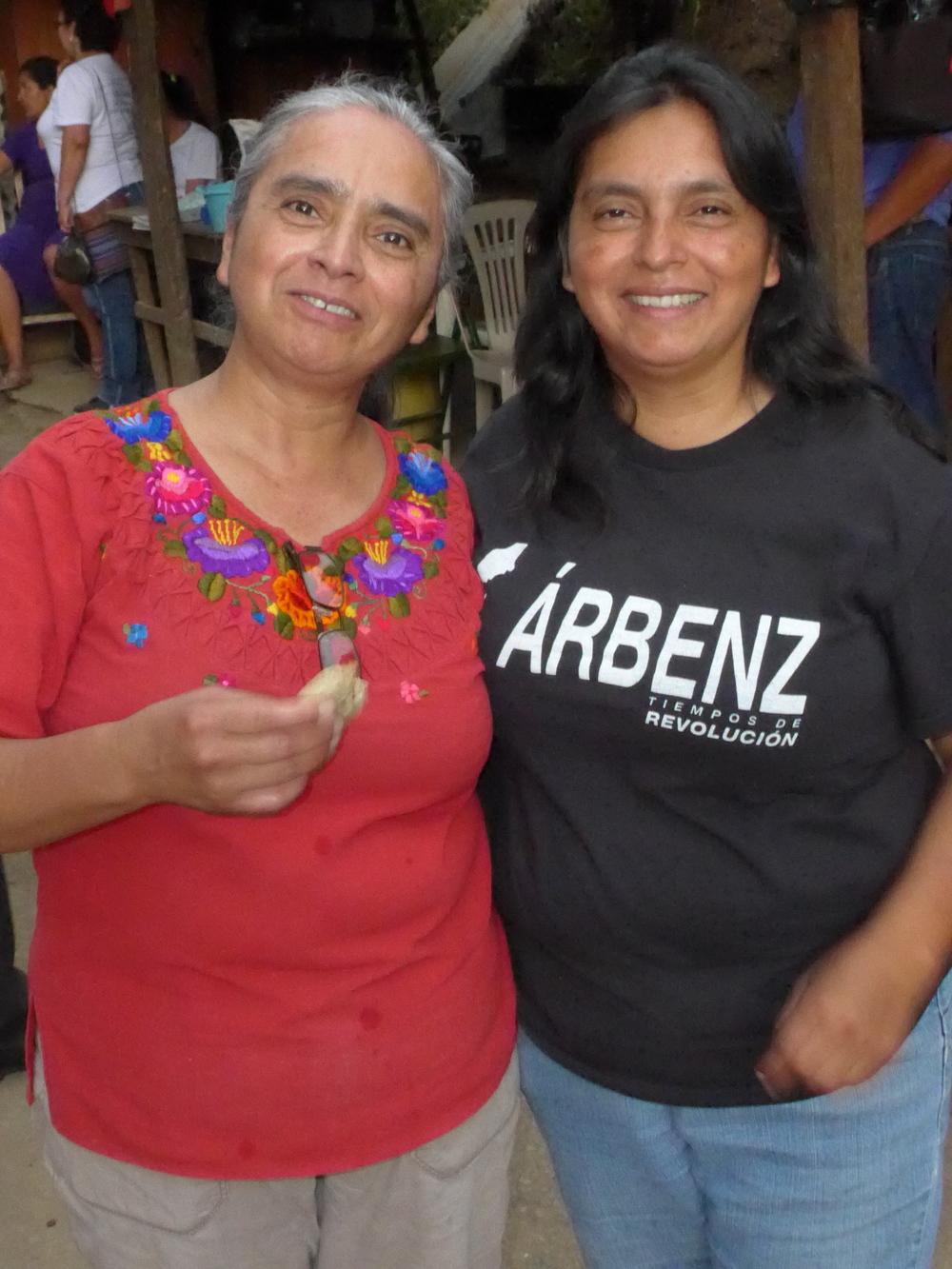 Candelaria y Vilma, hermanas en la resitencia. Candelaria and Vilma, sisters in resistance.