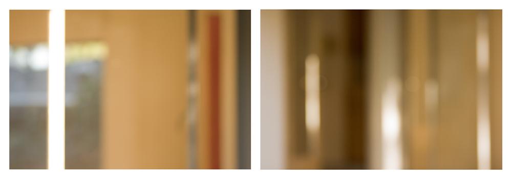 "now the shadow of the column   c-prints, aluminum, wood, plexiglass, 34"" x 93"""