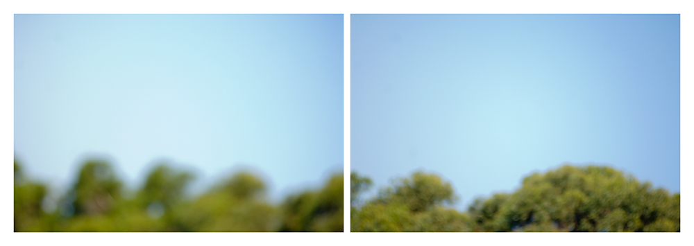 "elements of a discontinuous landscape   c-prints, aluminum, wood, plexiglass, 34"" x 93"""