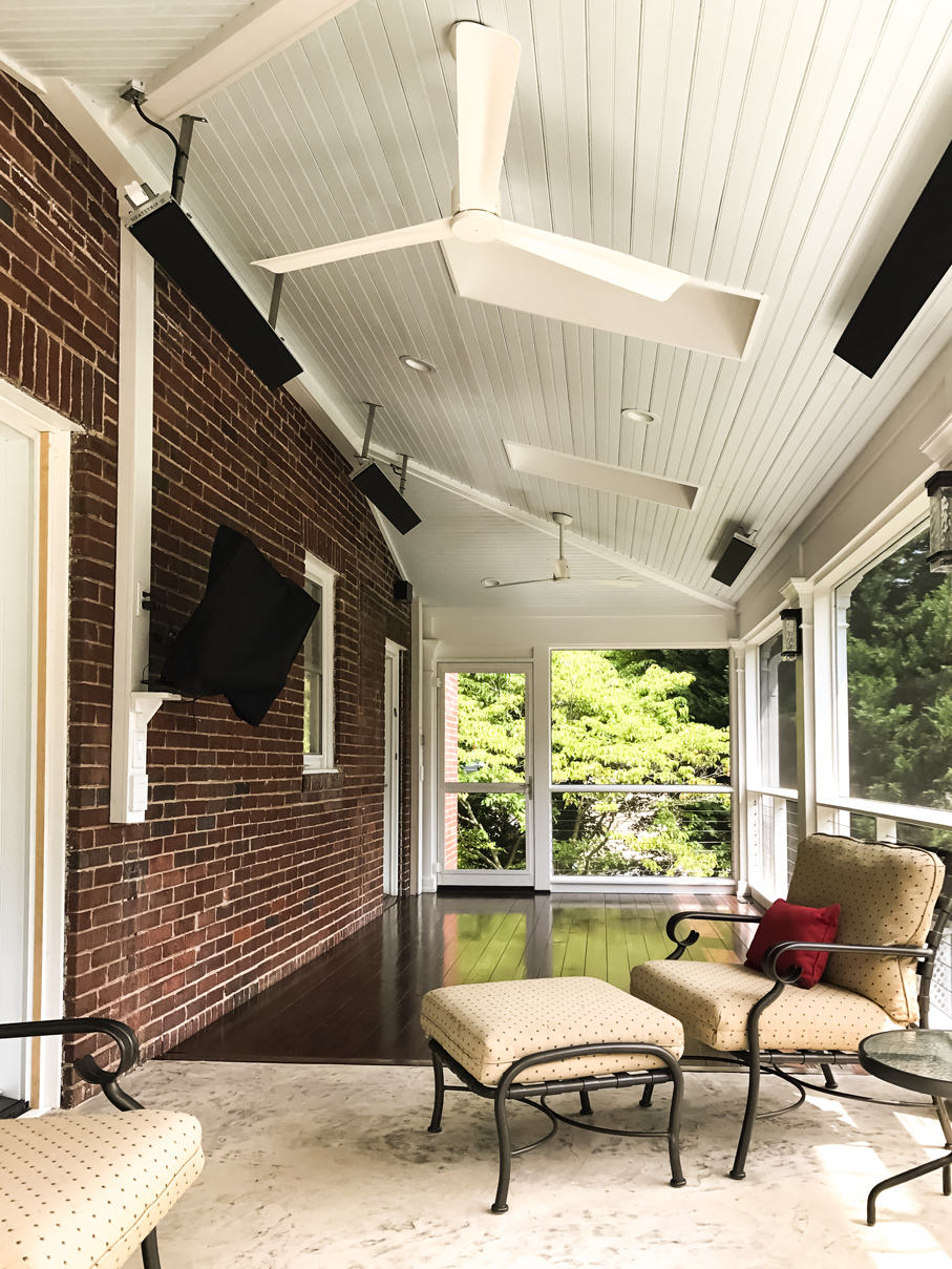 Stylish Screened Porch - Featuring Skylights with Motorized Blackout Shades and Ceiling-mounted Infrared Heaters