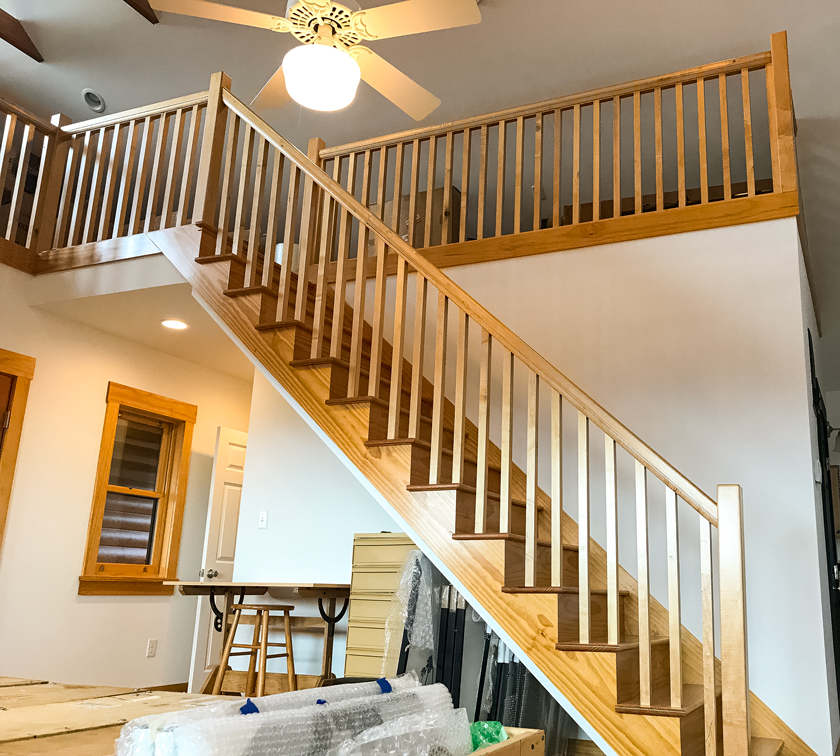Fairview Studio Stairs and Loft