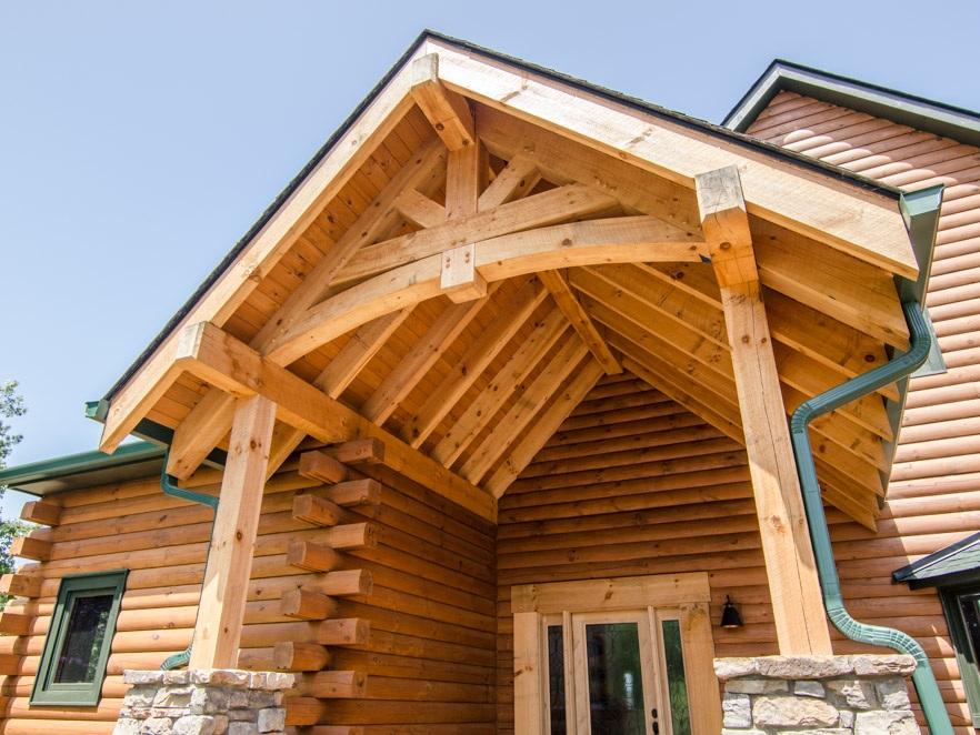 Black Mountain Log Cabin - This log cabin kit took on new life and was transformed by Pride Builders into a custom cabin.Read More…..