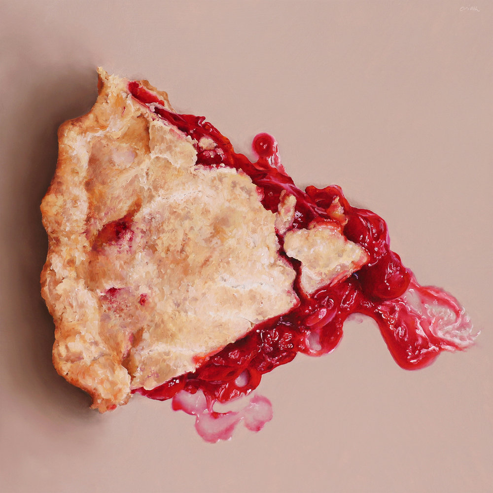 Cherry Pie  oil on panel / 12 x 12 inches  commission