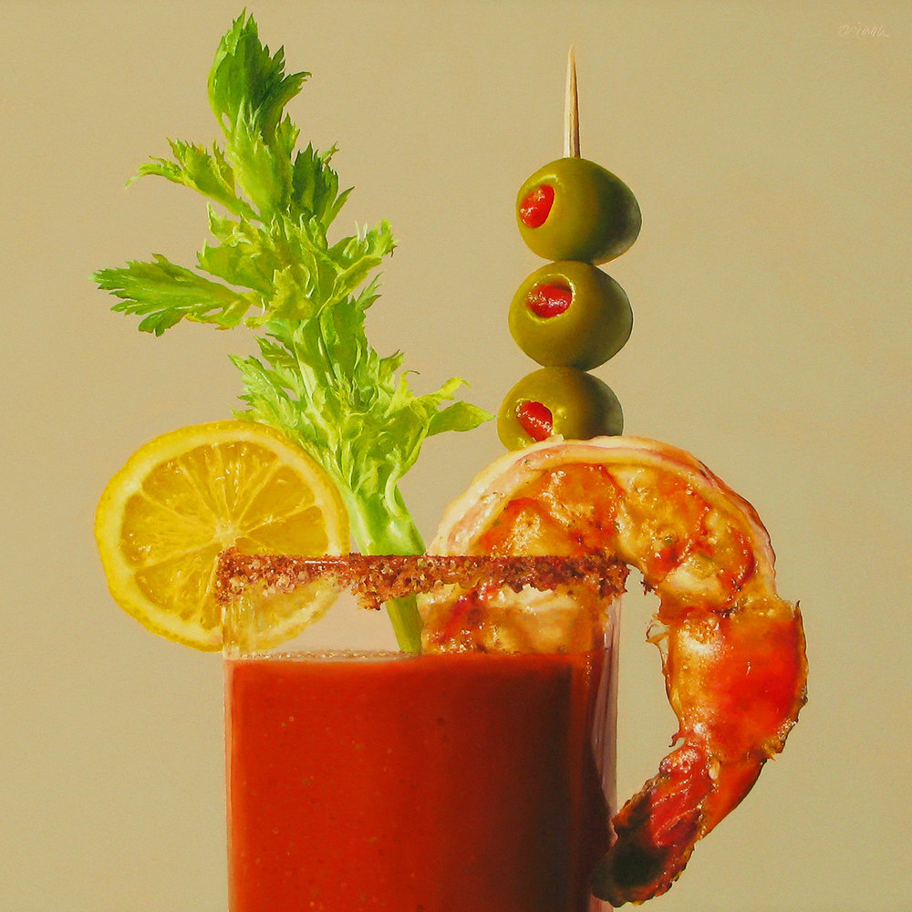 Bloody Mary  oil on panel / 16 x 16 inches  sold