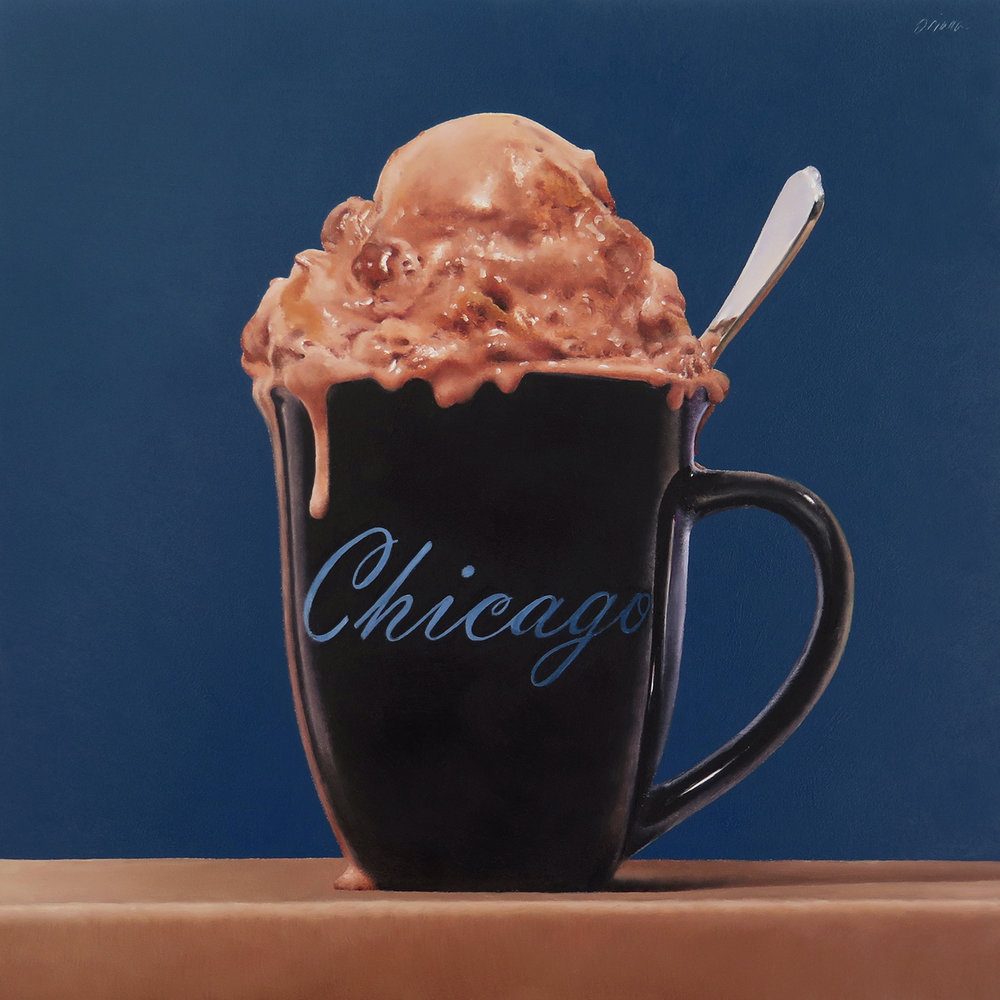 Chicago  oil on panel / 10x10 inches  commission
