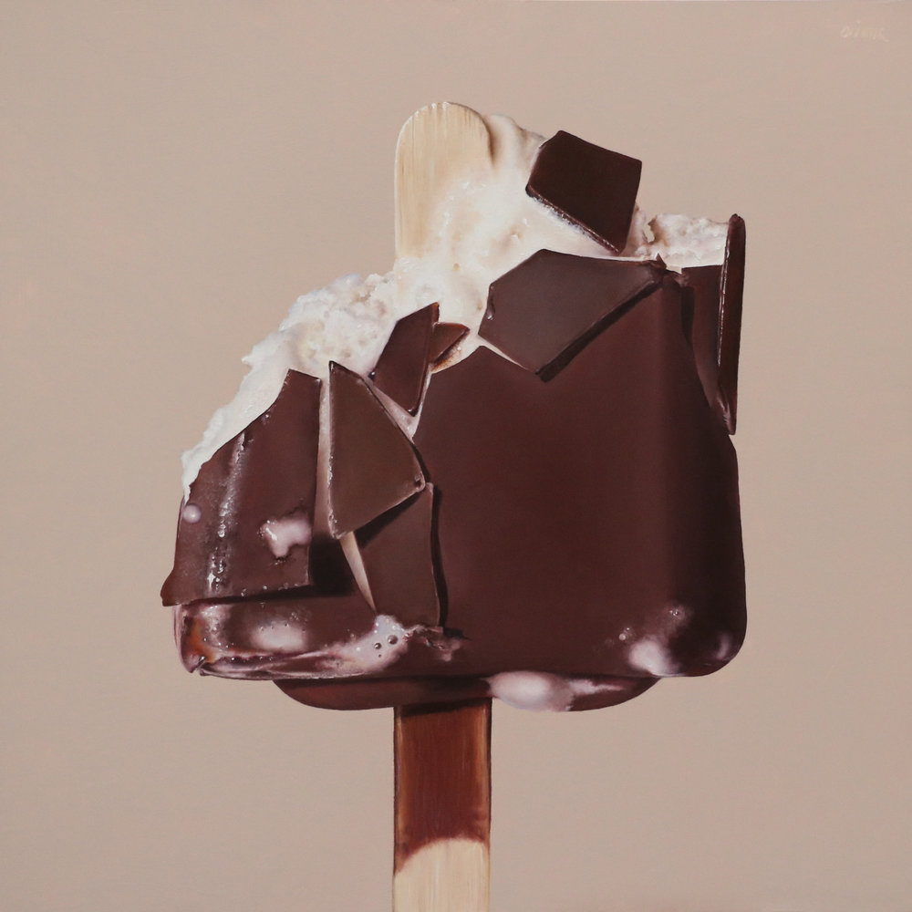 Chocolate Covered  oil on panel / 12 x 12 inches  private collection
