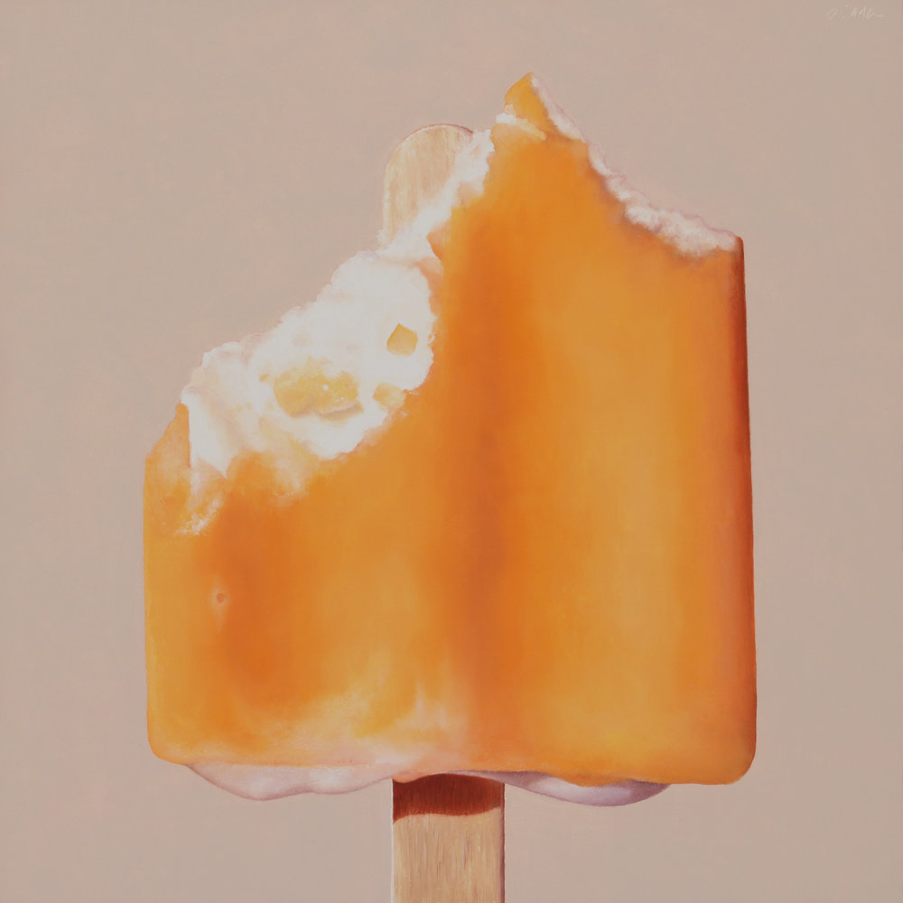 Creamsicle  oil on panel / 12 x 12 inches  available for purchase at  Quidley & Company
