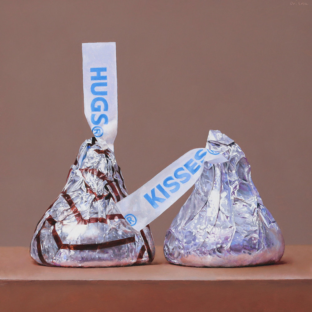 Hugs and Kisses  oil on panel / 12 x 12 inches  sold