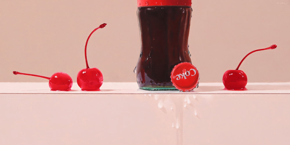 Cherry Coke  oil on panel / 12 x 24 inches  available for purchase at  Quidley & Company