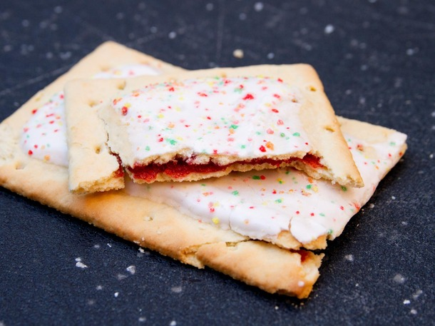 Do you know what claims to be an excellent source of vitamins and minerals? That's right, poptarts. They must be healthy!