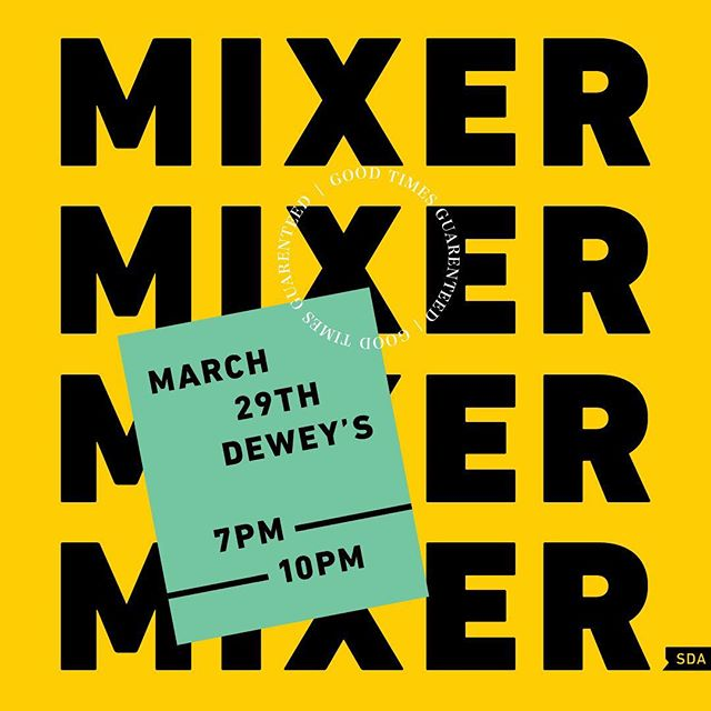 It's time for the last mixer of the year! This Friday. Dewey's. Come share the last bit of freedom before the portfolio push. 💪  #yeg #yegdesign #design #drinks #hang