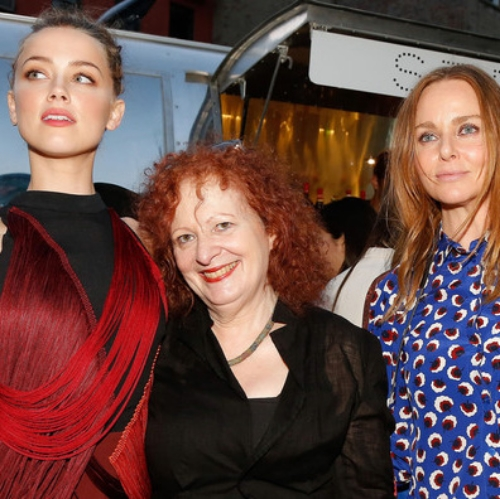 Had the pleasure of  updating  Nan Goldin's signature red locks; seen here looking ravishing amongst other beauties, including Stella McCartney.
