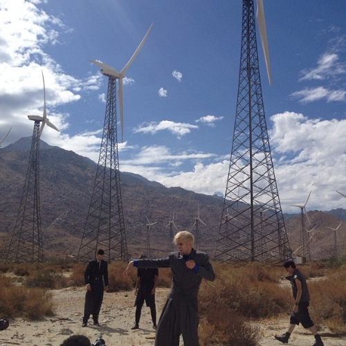 Behind the scenes of the @semipreciousweapons music video set in the Coachella Valley