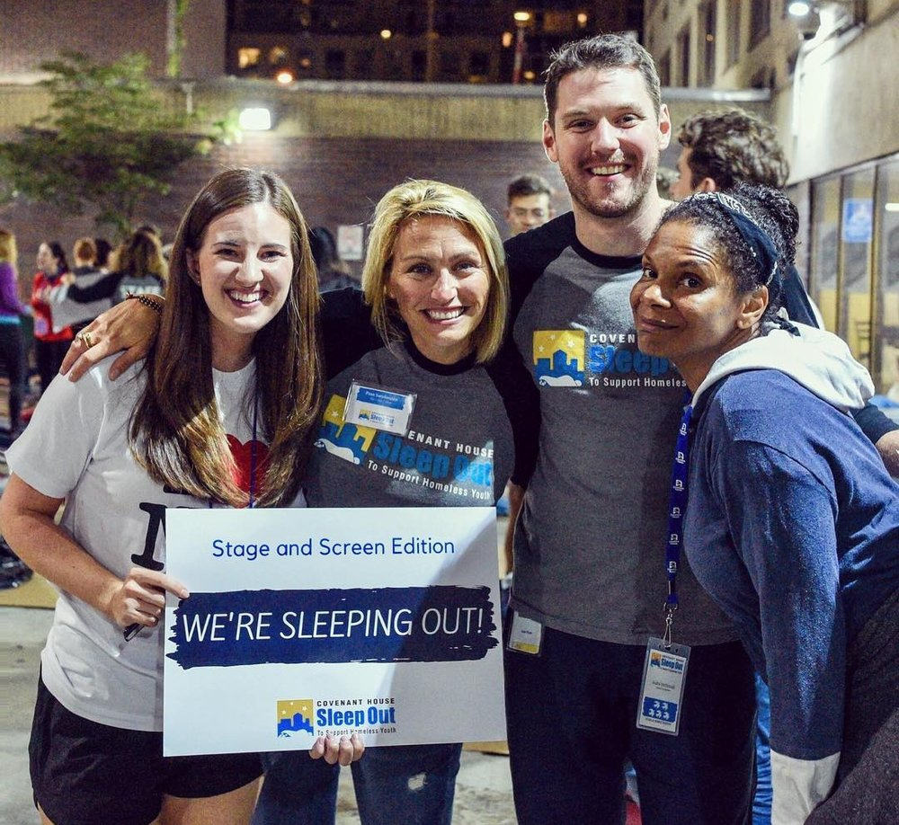 BROADWAY SLEEP OUT for COVENANT HOUSE NEW YORK.