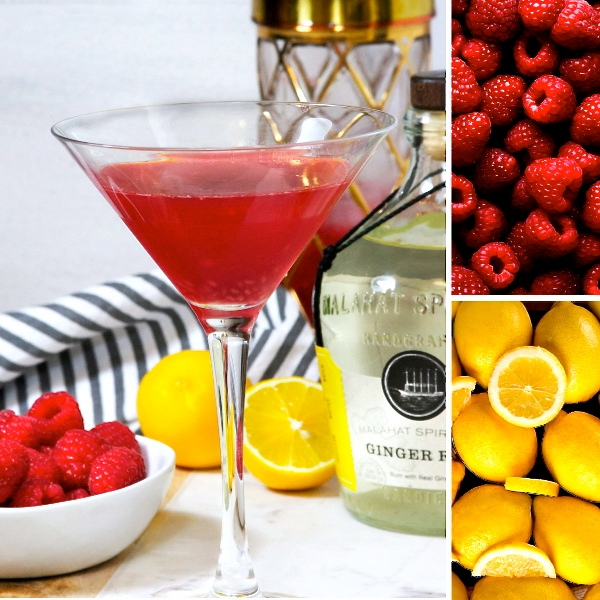 Raspberry Ginger Rumtini