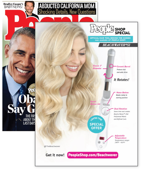 Advertisement for the Beachwaver®S1 In People Magazine.