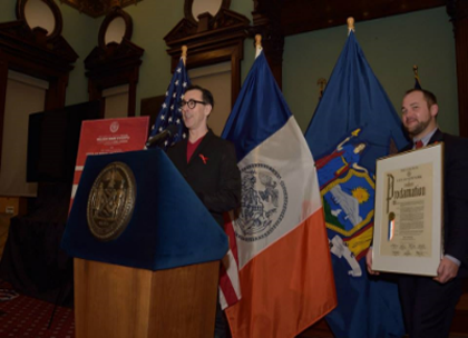 CITATION FROM NEW YORK CITY HALL   I was awarded a Proclamation from New York City Hall for my efforts in fighting HIV/AIDS and its many effects