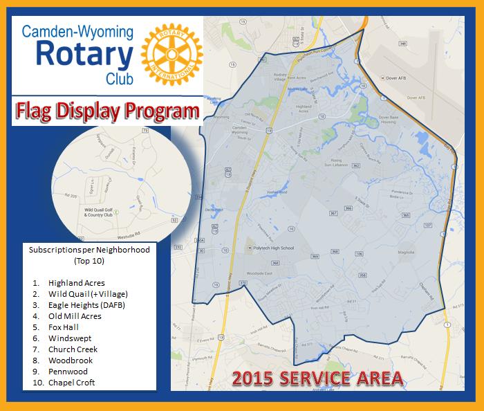 2015 Service Area