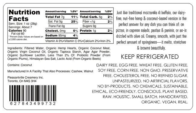 Cultured Hemp x Coconut Milk Mozzarella