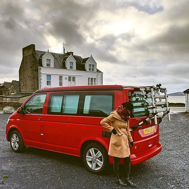 our little home as we traversed the Scottish Highlands and Islays ❤️ 📸: @rex.vh