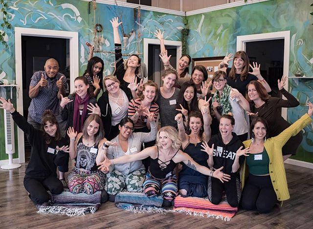 Ecstatic to welcome our very *first* summer session for The Craft of Teaching Yoga 🦋🌻! Last night we talked about spirit animals, our favorite foods, and generally got excited for the next six months together 🙌🏼 Every class we wonder: how can we possibly love this group as much as the last?! And every time we are floored by the incredible humans that walk through the door. Honored. Excited. Ready 🧜🏽‍♀️🌲 (ps: we missed you @avcrews)!