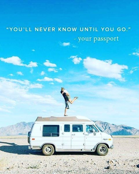 """You'll never know until you go."" - Your passport. #Travel #Quote #JustGo #Inspire"