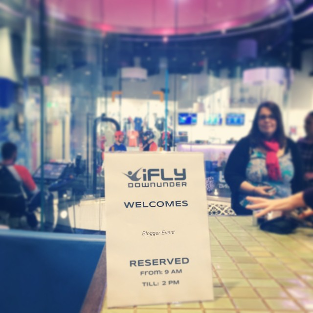 We were greeted by iFLY's amazing team of smily staff AND had a roped-off VIP area ;-)