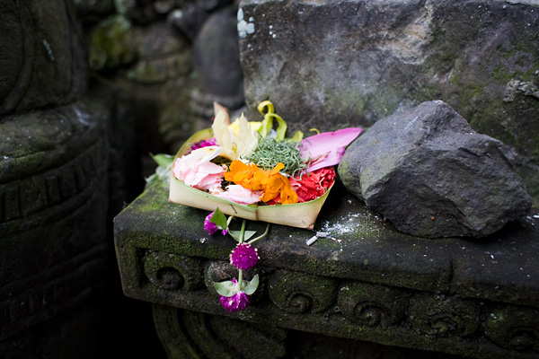 Traditional Balinese offering