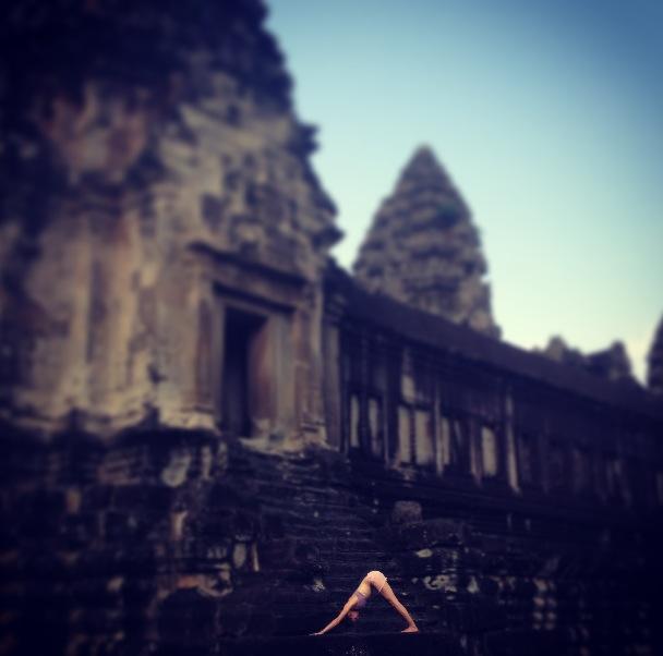 Angkor Down Dog Pose.JPG
