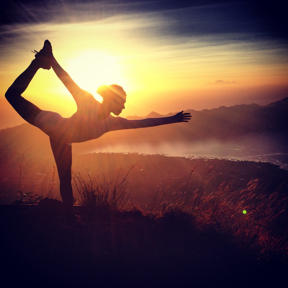 Mt Batur Dancer's Pose Yoga.JPG