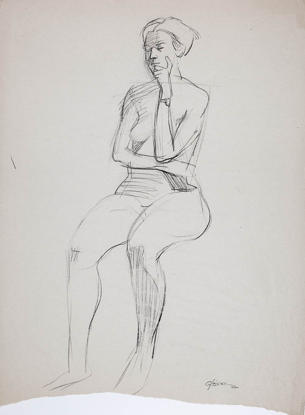 14  Seated Female Nude