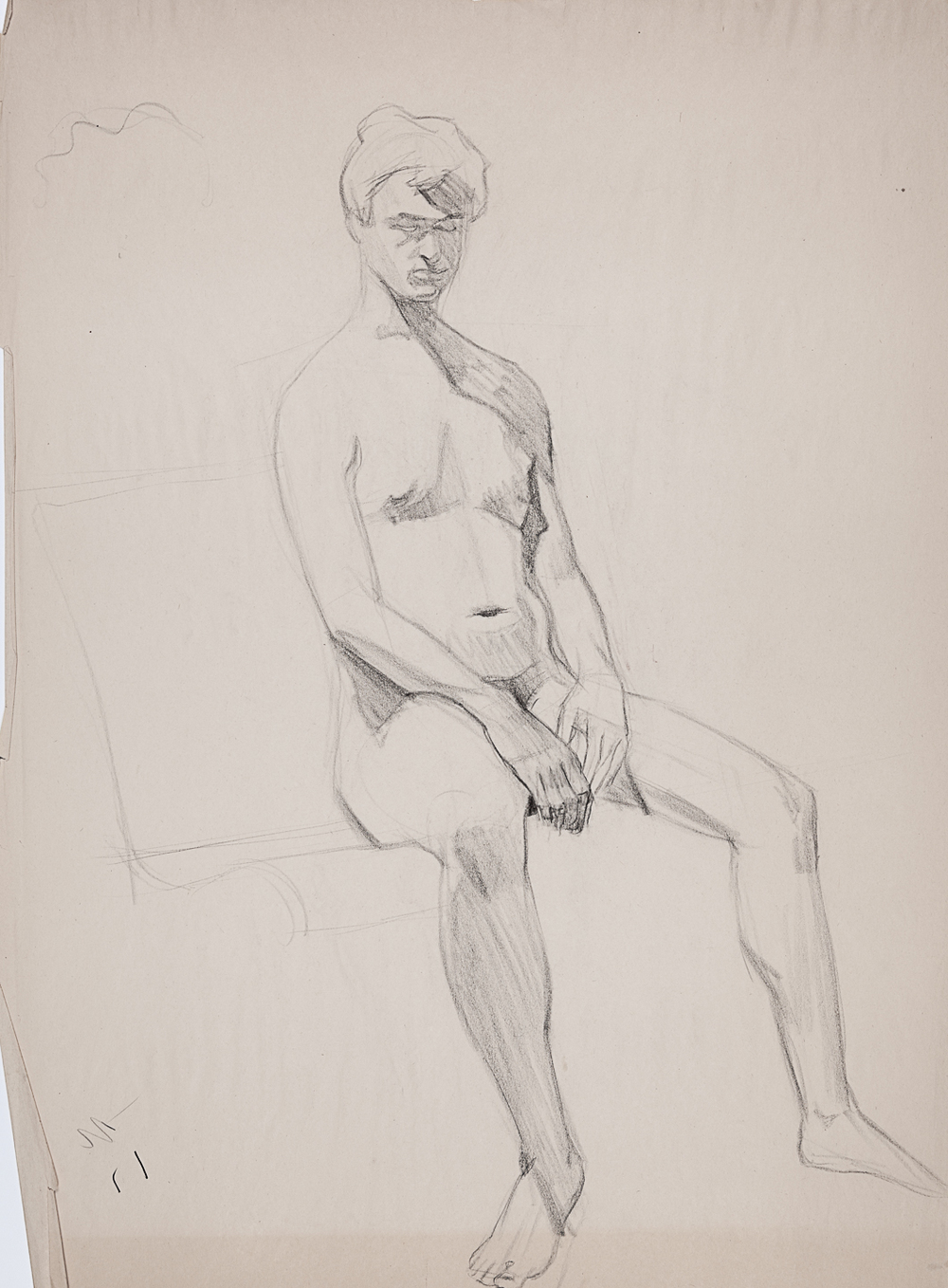 18   Seated Male Nude