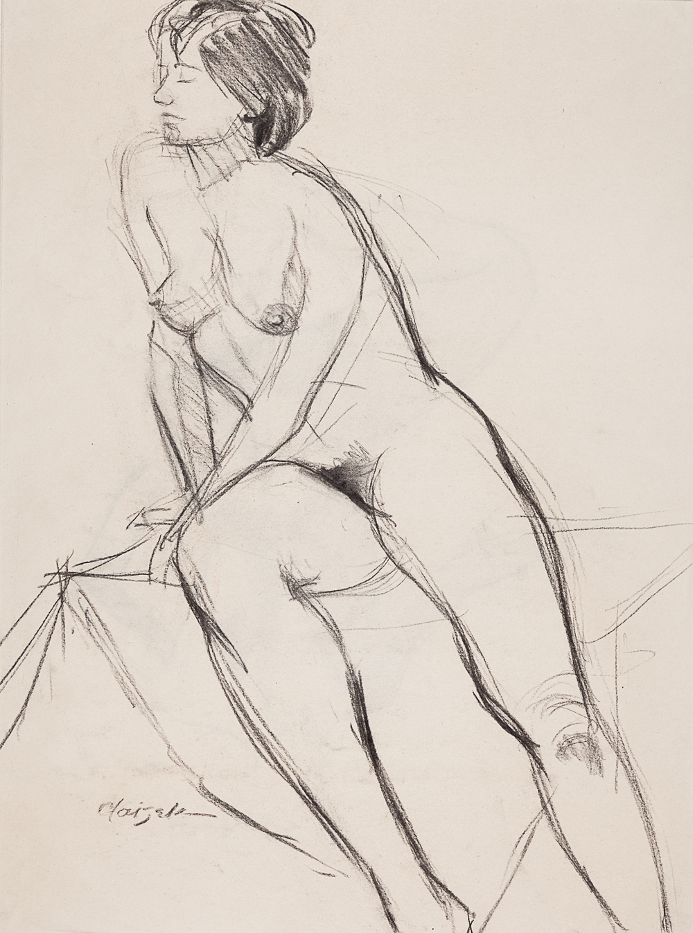 20  Half Seated Female Nude