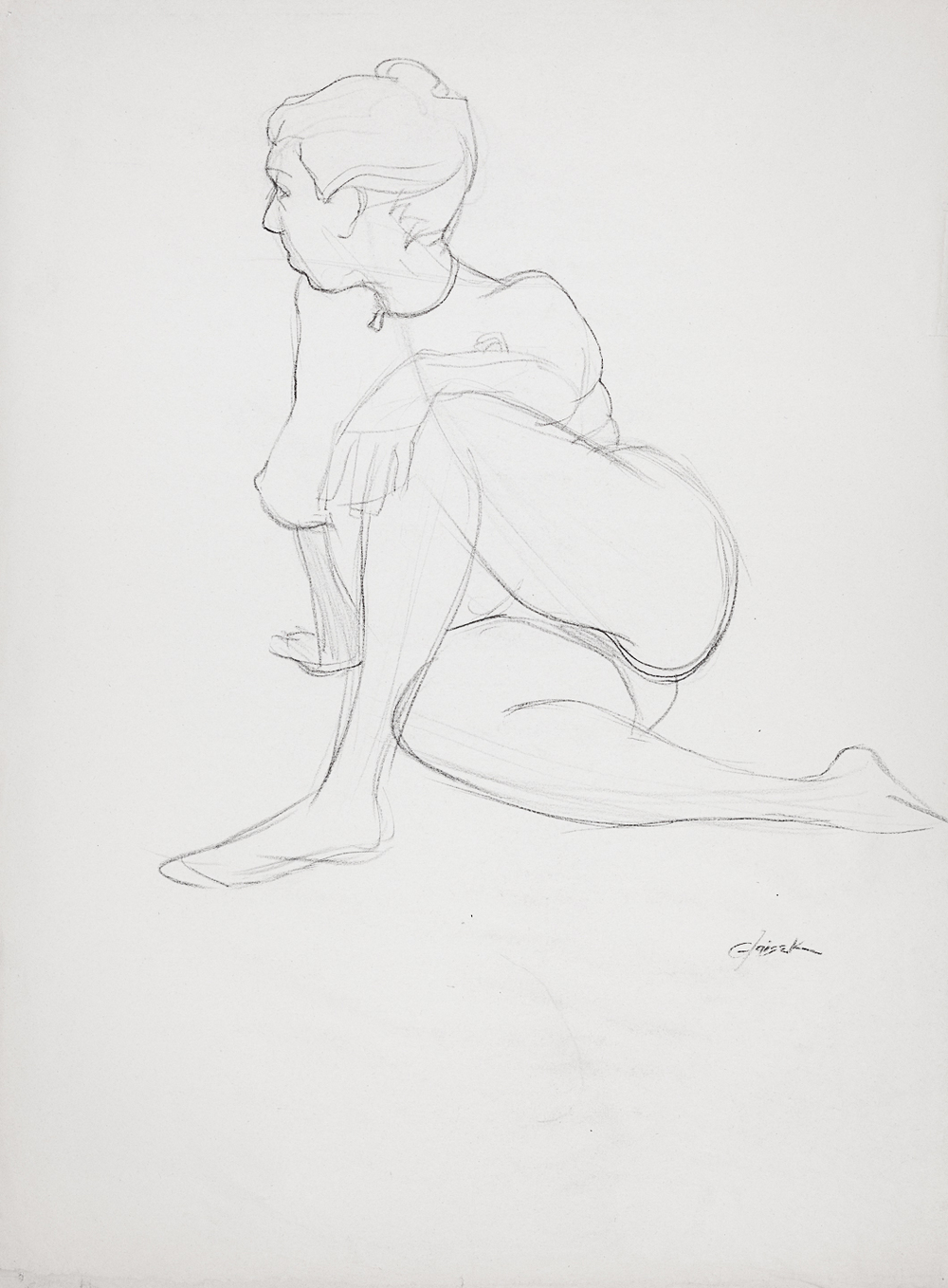24  Seated Female Nude