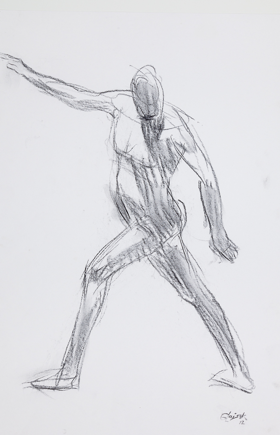 26  Striding Male Nude