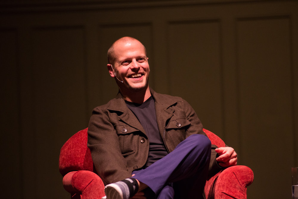 Tim Ferris offered advice on creativity, health and living a successful life during his interview and Q&A session at Seattle's Great Hall on Friday, January 27, 2017. Photos and text by Jeffrey Luke.