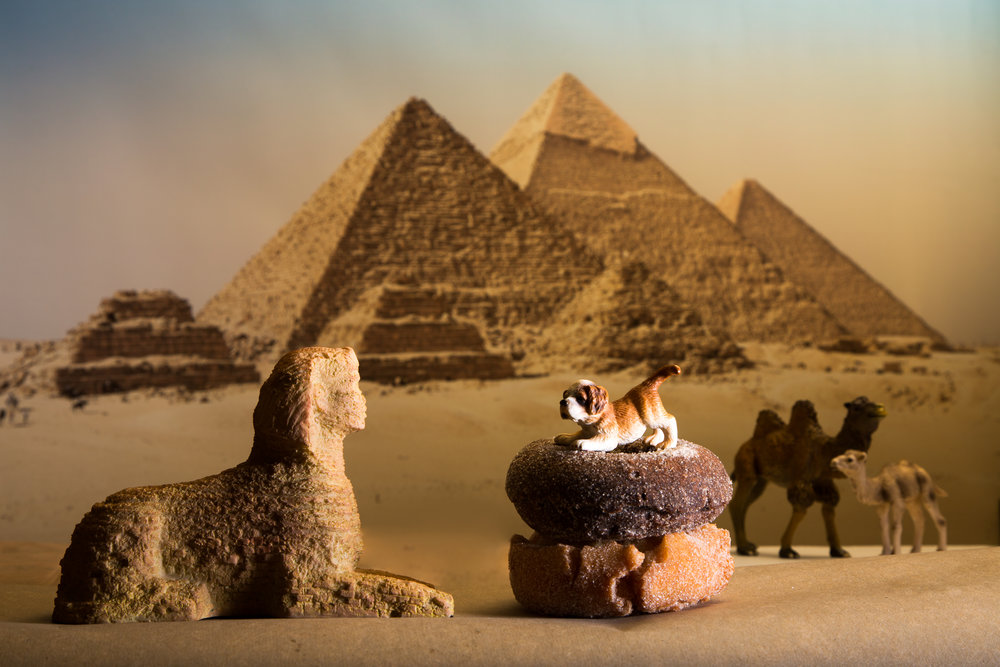 Egyptian Scene with Donuts