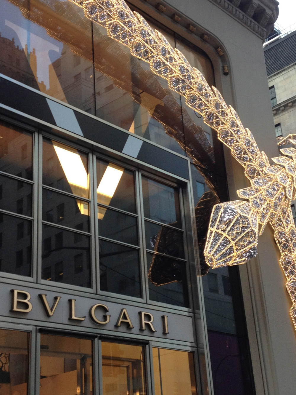 Now that's how I like my snakes…Bulgari store front, NYC.