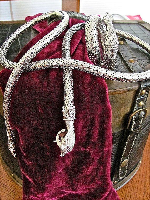 Vintage Snake Belt & Bracelet via Etsy  .