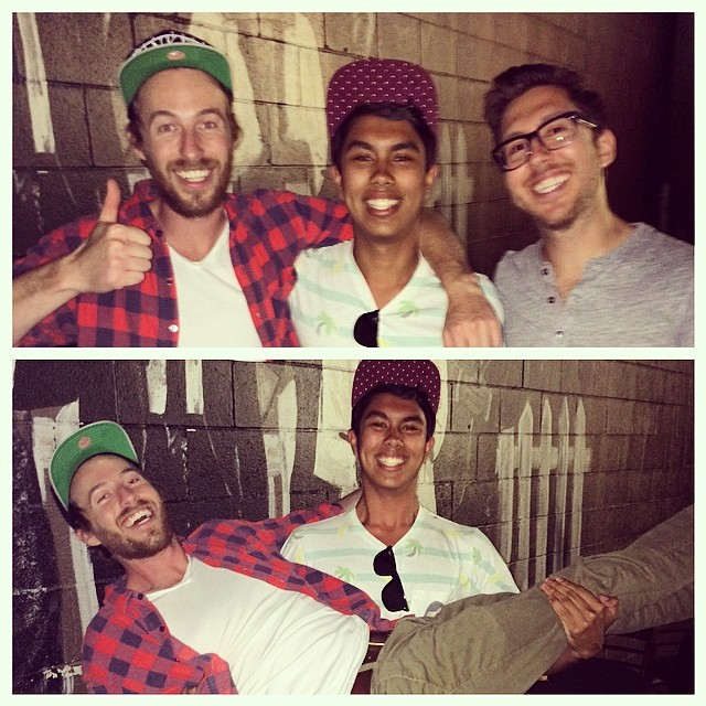 I only shed one tear when I met my heroes. #jakeandamir #ohsheeshyall #twasadream